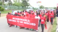 The Bring Back our Girls campaign group commemorate 500 days since the abduction of the Chibok schoolgirls with a march