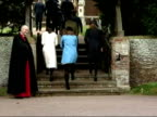 The British Royal Family arrive at Sandringham Church on Christmas Day