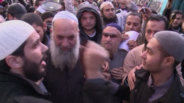 The brother of Al Qaeda chief Ayman al Zawahiri Mohammed al Zawahiri joins dozens of Egyptian Islamists in a protest Friday near the French embassy...