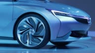 The Buick Velite concept hybrid automobile manufactured by General Motors Co is unveiled at the China International Automobile Exhibition in...