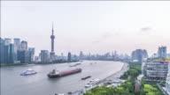 T/L The Bund and Huangpu River, Shanghai, China
