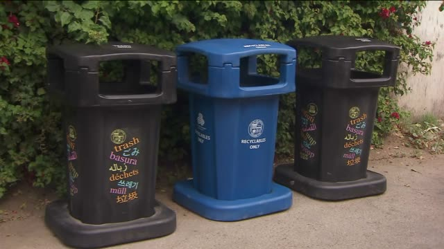 KTLA The Bureau of Sanitation Placing New Curbsde Trash Cans In Los Angeles on April 23 2015 under Eric citywide trash cleanup initiative