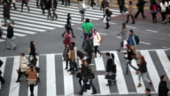 The busiest pedestrian crossing in the World. Shibuya  district Tokyo, Asia