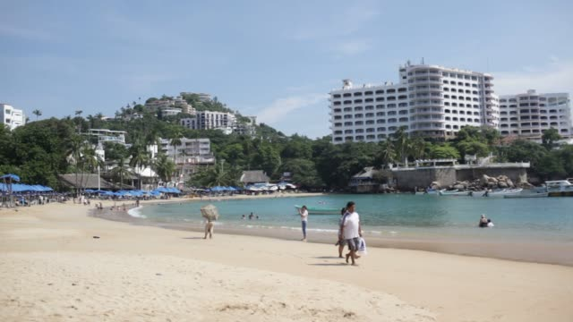 The Caleta beach in Acapulco Guerrero Mexico Wednesday November 18 2015 Acapulco is one of Mexico's best known beach resorts hosting many famous...