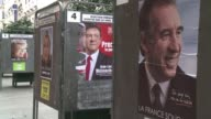 The campaign for the first round of France's presidential election on April 22 officially kicked off Monday with candidates allowed to put up posters...