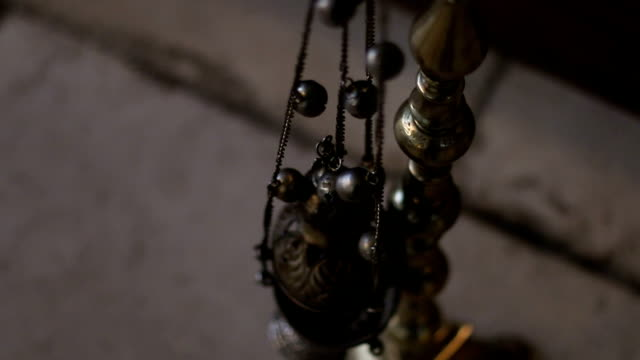 The candle holder in the orthodox church