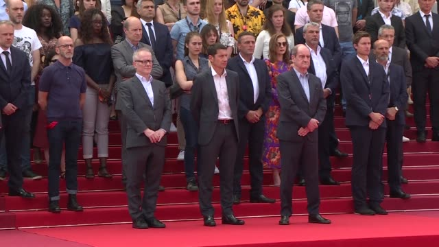 The Cannes film festival held a minute's silence on its famed red carpet Tuesday for victims of the pop concert suicide bombing in the British city...