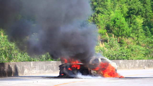The car spontaneous combustion