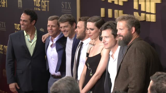 The Cast and Crew of 'The Gift' at the 'The Gift' Los Angeles Premiere at Premiere House on July 30 2015 in Los Angeles California