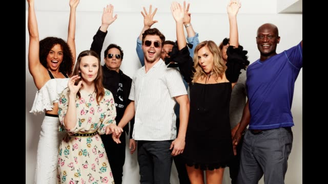 The Cast of 'Midnight Texas' pose for a portrait gif at the 2017 ComicCon Portrait Studio at Hard Rock Hotel San Diego on July 21 2017 in San Diego...