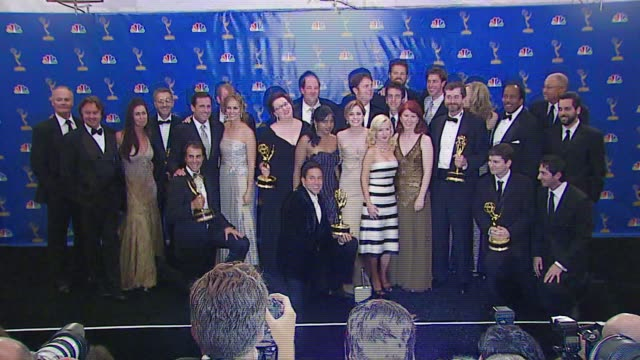 The Cast of 'The Office' winner Outstanding Comedy Series at the 2006 Emmy Awards press room at the Shrine Auditorium in Los Angeles California on...