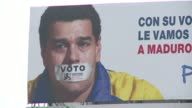 The Centro Democratico Colombian party led by the opposing senator Alvaro Uribe starts his campaign for Bogota's Council with big billboards against...