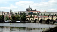 The Charles Bridge Across The Vltava River In Prague