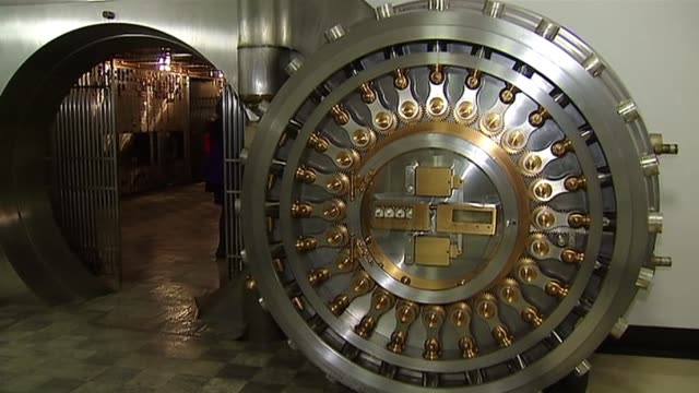 The Chicago Board Of Trade opens up their vault to the public Chicago Board Of Trade Vault Door on October 20 2013 in Chicago Illinois