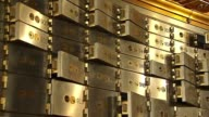 The Chicago Board Of Trade opens up their vault to the public Safety Deposit Boxes In Bank Vault on October 20 2013 in Chicago Illinois