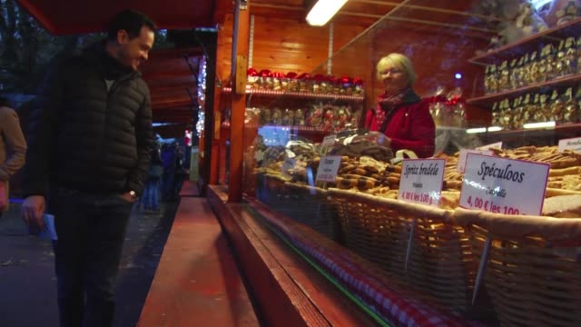 The Christmas market in Strasbourg one of the largest and most famous in Europe opens under tight security with nineteen checkpoints and 140 security...