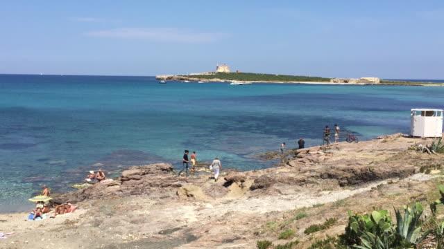 The city beach of Portopalo di Capo Passero, Sicily