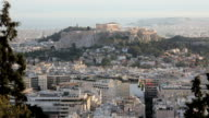The City of Athens with the Acropolis in the distance, Athens, Greece, Europe