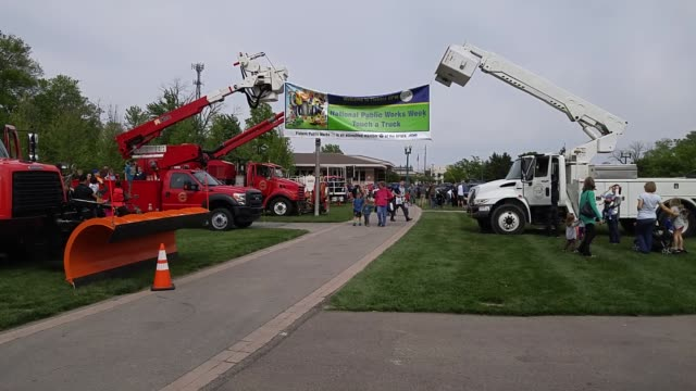 The City of Fishers Indiana hosts 'TouchaTruck Day' as part of National Public Works Week which was initiated in 1960 by The American Public Works...