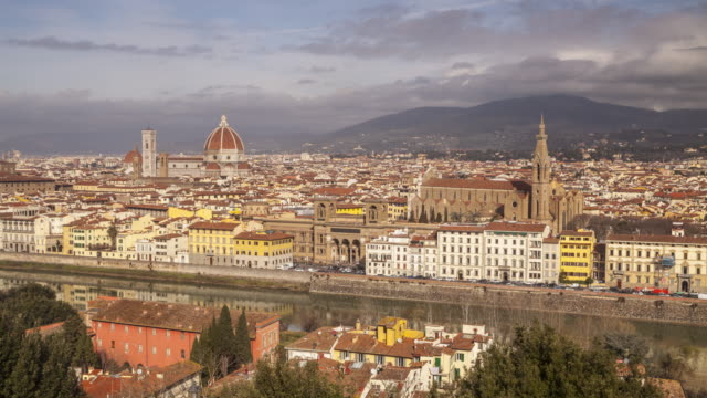 The city of Florence from Piazzale Michelangelo, Tuscany, Italy.
