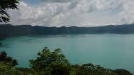 The Coatepeque Lake is changing color from green to turquoise After analysis El Salvadors ministry of environment has declared that the cause is the...