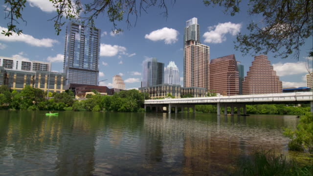 The Colorado River with Downtown Austin in the Background