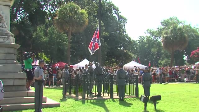 The Confederate Flag at SC Capitol Building Comes Down