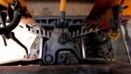 The coupling train locomotive