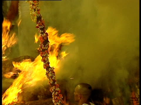 The cremation of Nepal's Crown Prince Dipendra following the massacre of the royal family