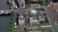 Das Hotel Zollhaus, Regierungsgebäude-Luftaufnahme-Irland