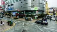 The customers walking in the shopping street, Busan, Korea