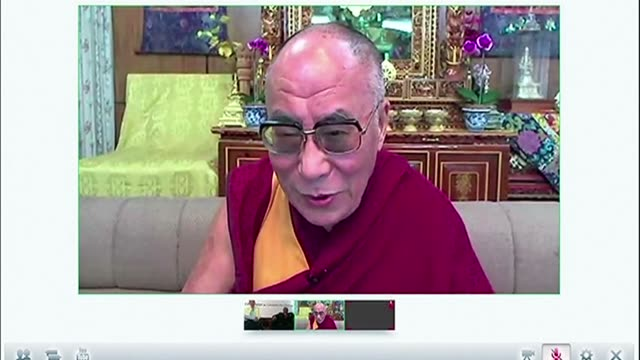 The Dalai Lama on Saturday slamed censorship in China as immoral and poked fun at denunciations of himself in a video chat with Desmond Tutu after he...