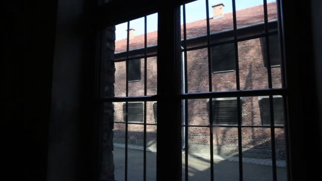 The death wall were prisoners were shot at the Auschwitz I extermination camp on November 15 2014 in Oswiecim Poland Ceremonies marking the 70th...