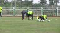 The Democratic Republic of Congo prepare to take on neighbouring Congo in the quarter finals of the African Cup of Nations in Equatorial Guinea
