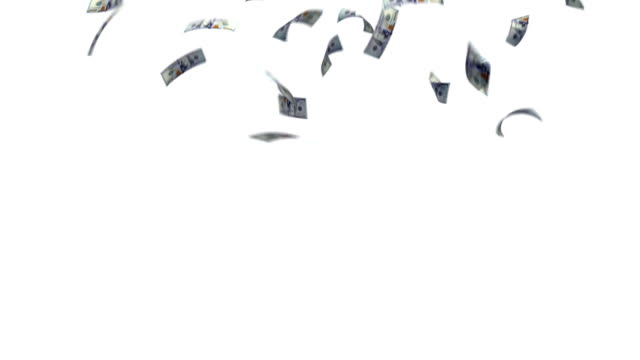 The dollar paper falling from the sky
