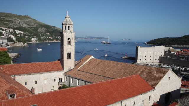 The Dominican monastery and the view of the bay