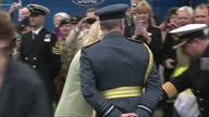 The Duchess of Cornwall on a visit to RAF Leeming meeting wounded servicemen Shows exterior shots of Camilla Duchess of Cornwall stroking and petting...