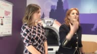 The Duchess of York and her daughter Princess Eugenie visit the Teenage Cancer Trust unit at Alder Hey Children's Hospital in Liverpool to mark the...