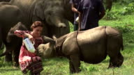 The Duke and Duchess of Cambridge continue their visit to India with a visit to the Kaziranga National Park in Assam province Shows Catherine and...