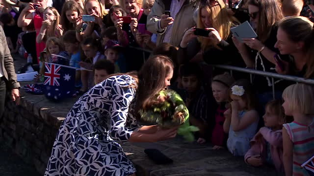 The Duke and Duchess of Cambridge have gone right to the edge on the second day of their Tour of Australia They've been admiring the views at the...