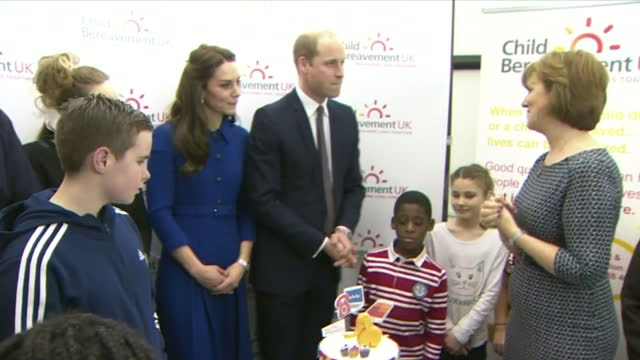 The Duke and Duchess of Cambridge have made their first official joint appearance of the year visiting a family bereavement centre in East London...