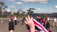 The Duke and Duchess of Cambridge say farewell to fans during a visit to the Blue Mountains on April 17 2014 in Sydney Australia The Duke and Duchess...