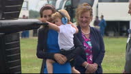 The Duke and Duchess of Cambridge visited the world's largest military airshow the Royal International Air Tattoo at RAF Fairford Prince George got a...