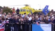 The Duke of Cambridge arrives for his visit to Aintree University Hospital where he will formally open the new Urgent Care and Trauma Centre