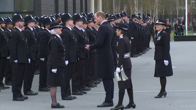 The Duke of Cambridge Cressida Dick at Hendon Police College on October 27 2017 in London England