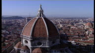 The Duomo of Florence Cathedral dominates  Florence, Italy.
