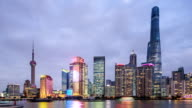 the dusk of the Lujiazui Finance and Trade Zone
