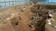 The earliest part of legendary 'golden castle' built in southern Kyoto in late 16th century by powerful warlord Toyotomi Hideyoshi was unearthed a...