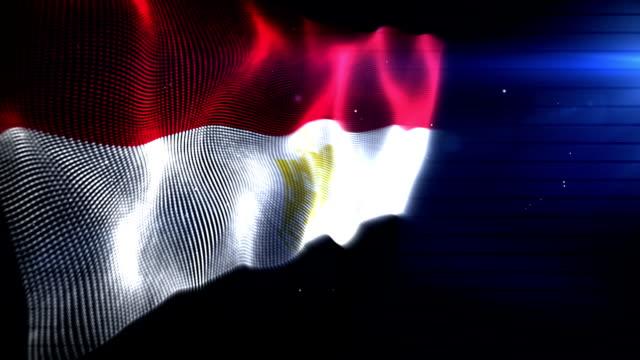 Die Ägyptische Flagge Hintergrund Loop (Full HD)