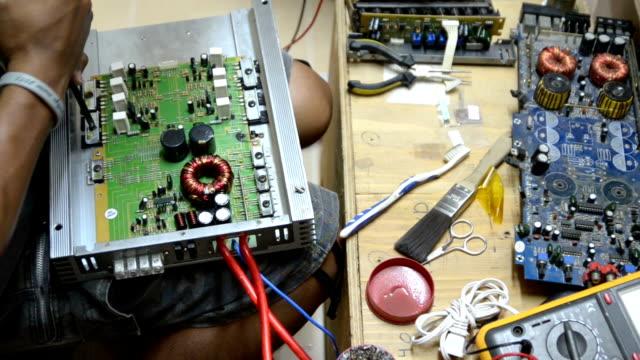 The electronics technician.